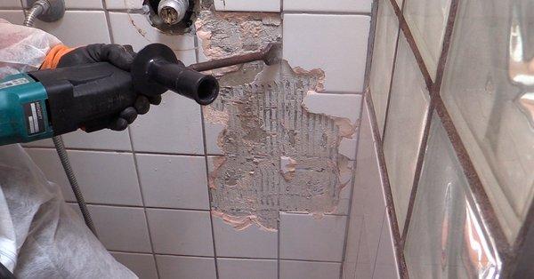 fjerne fliser badeværelse