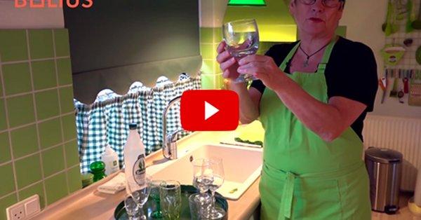 glas bliver hvide i opvaskemaskinen