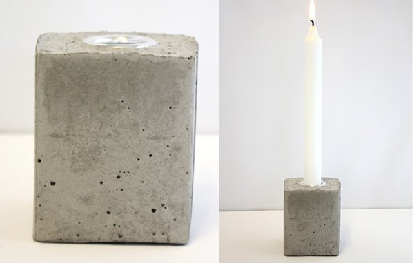 Lav dine egne lysestager i beton