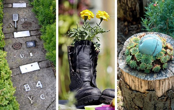 Genbrug naturen kreativt i haven