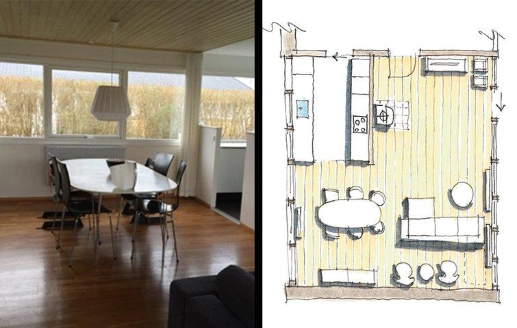 Læs en arkitekts bud på indretning af stue