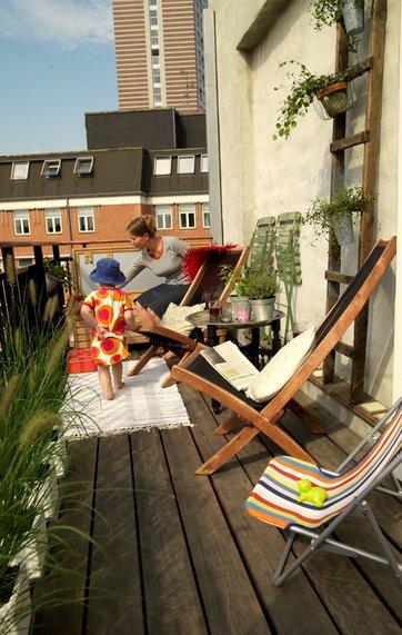Hvordan får du en altan, hvis du bor i lejlighed?