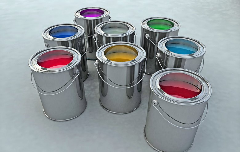 valg af farver indendoers