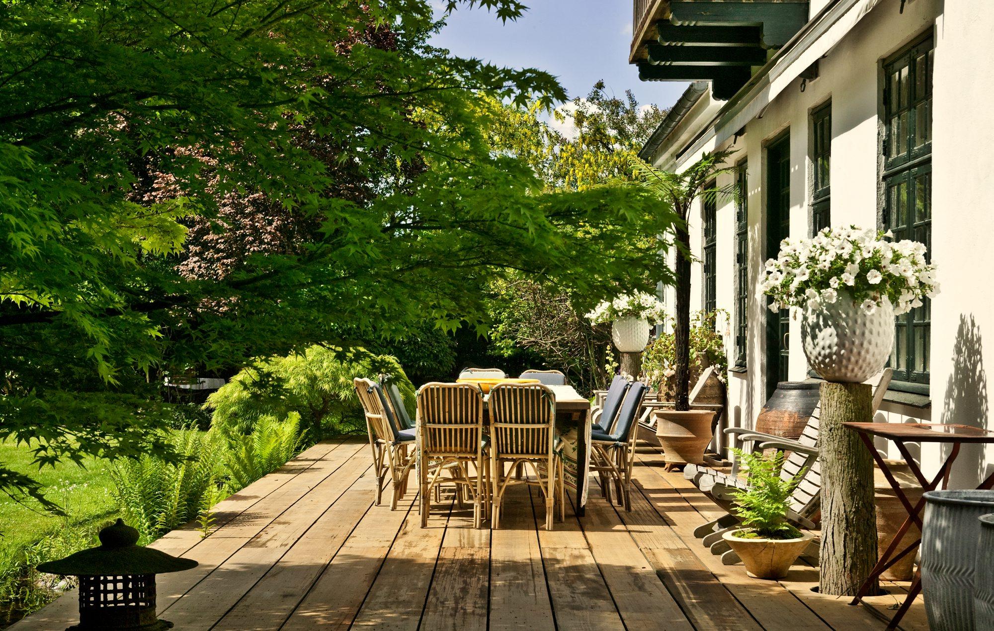 God plads på terrassen