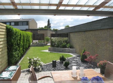 Terrasse til rækkehus vandt bolius idépris